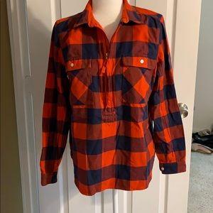 Jcrew pullover flannel shirt